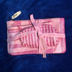 Three Victoria Secret Make Up Bags NWT